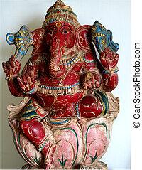 ganesha, divinité, indien, -