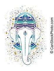 Ganesha god vector