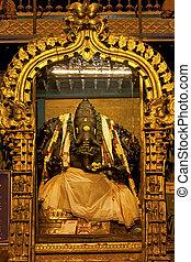 Ganesha, hindu god, inside of Meenakshi hindu temple in Madurai, Tamil Nadu, India