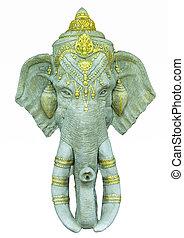 Ganesha isolated on white background