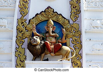 Ganesha Mounted on Lion