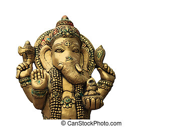 Ganesha on a white background