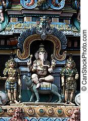 Ganesha on Vehicle, Tiruchirapalli - Statue of Ganesha...