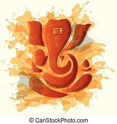 Ganesha or Ganesh stylized