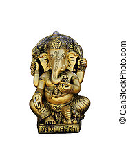 Ganesha Statue Lord of Success Isolated on white background