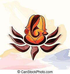 Ganesha watercolor.
