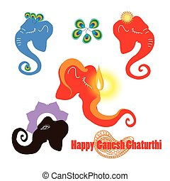 Ganesha_profile_silhouette bright collection.