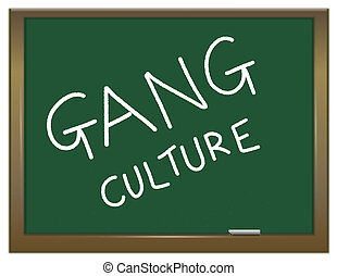 Gang culture concept. - Illustration depicting a green chalk...