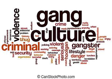 Gang culture word cloud