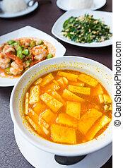 Thai spicy orange soup