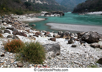Ganga near Rishikesh - Clear blue Ganga in The Himalaya ...