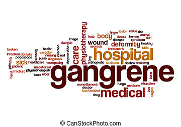 Gangrene word cloud concept