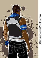 Gangsta Set. - Set of gangsta 5 poses and attitudes. Ideal...