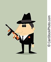 gangster, cartone animato