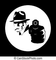 gangster comic vector illustration