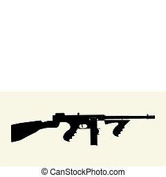 Gangster Machine Gun Vector