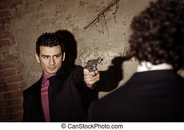 gangster - Murder in action: the gangster is gonna push the...