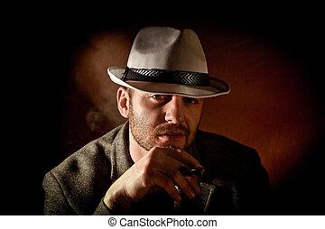 gangster portrait