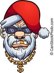 gangster, santa