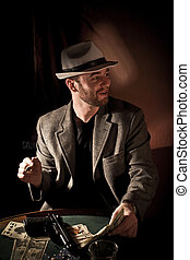 gangster - fine portrait of caucasian gangster