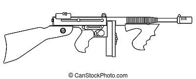 Gangster Tommy Gun
