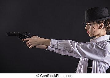 gangster, vrouw