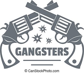 Gangsters logo, vintage style