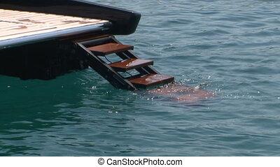 Gangway of boat