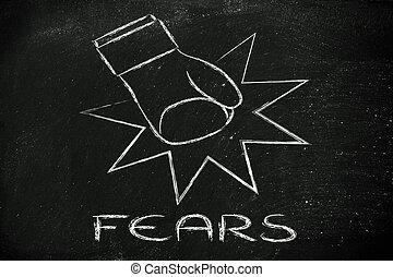 ganhe, medos, desafio, problemas, seu, superar