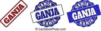 GANJA Grunge Stamp Seals