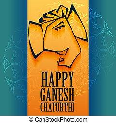 ganpati festival of ganesh chaturthi greeting design