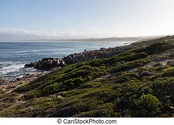 Gansbaai coastline in South Africa