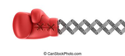 gant boxe, surprise