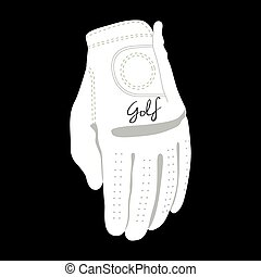 gant, golf, isolé