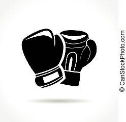 gants, blanc, boxe, fond