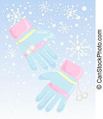 gants, hiver