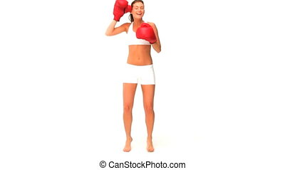 gants, rouges, femme