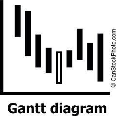 Gantt diagram icon simple style gantt diagram icon simple gantt diagram icon simple style ccuart Choice Image