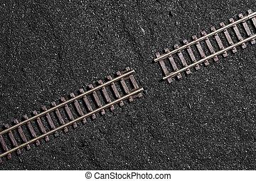 gap between railroad tracks - problem solving concept