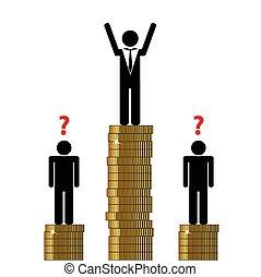 gap between rich and poor finance pictogram