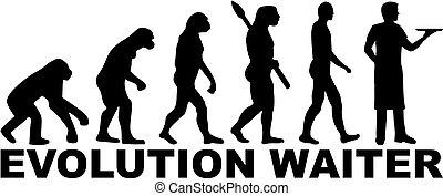 garçom, evolução, trabalho, título