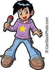 garçon, étoile, anime, pop, manga