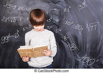 garçon, étudier, mathématiques