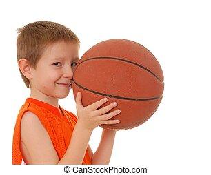 garçon, 13, basket-ball