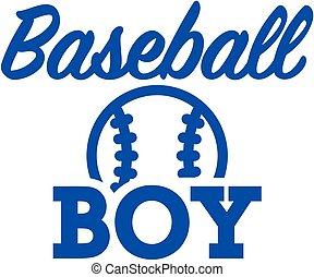 garçon, base-ball