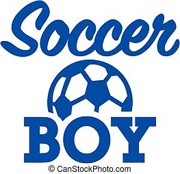 garçon, boule football