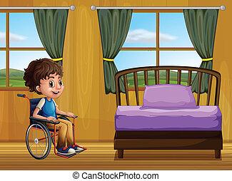 garçon, chambre à coucher