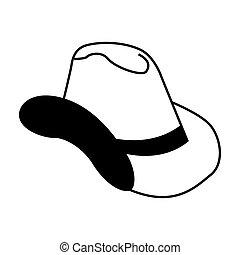 garçon, chapeau, isolé, vache, icône