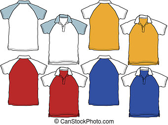 garçon, chemise polo, sport, uniforme