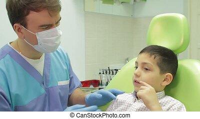 garçon, dentiste, jeune